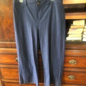 Agnes and Dora wise leg denim pant size large NWOT